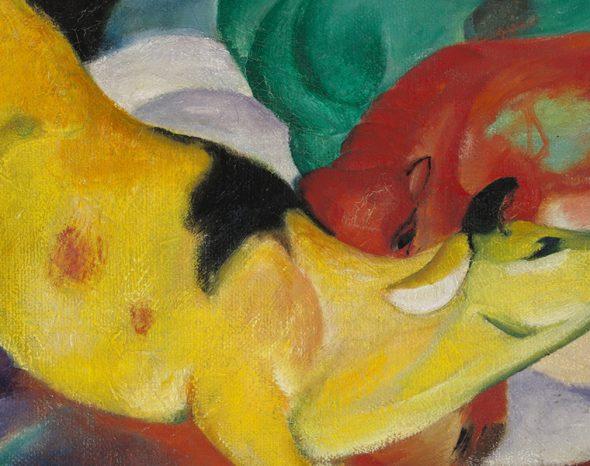 Franz Marc, Kühe, rot, grün, gelb,