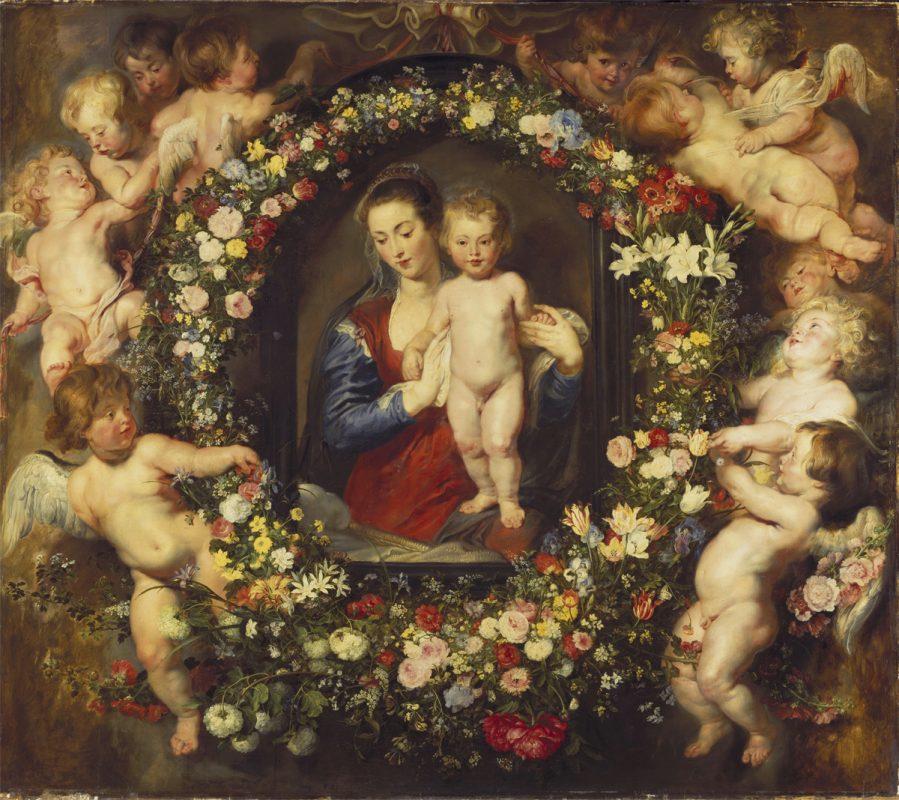 Madonna mit Blumenkranz